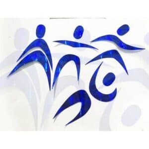 Móvil Montessori bailarines azul