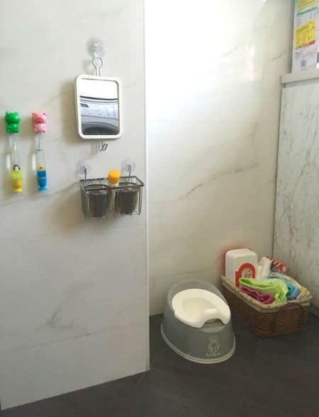 Rincón en aseo para wc niños