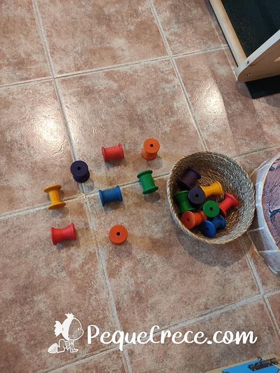 carretes de colores