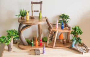casa en el arbol madera