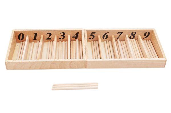 Juguetes Montessori caja de husos